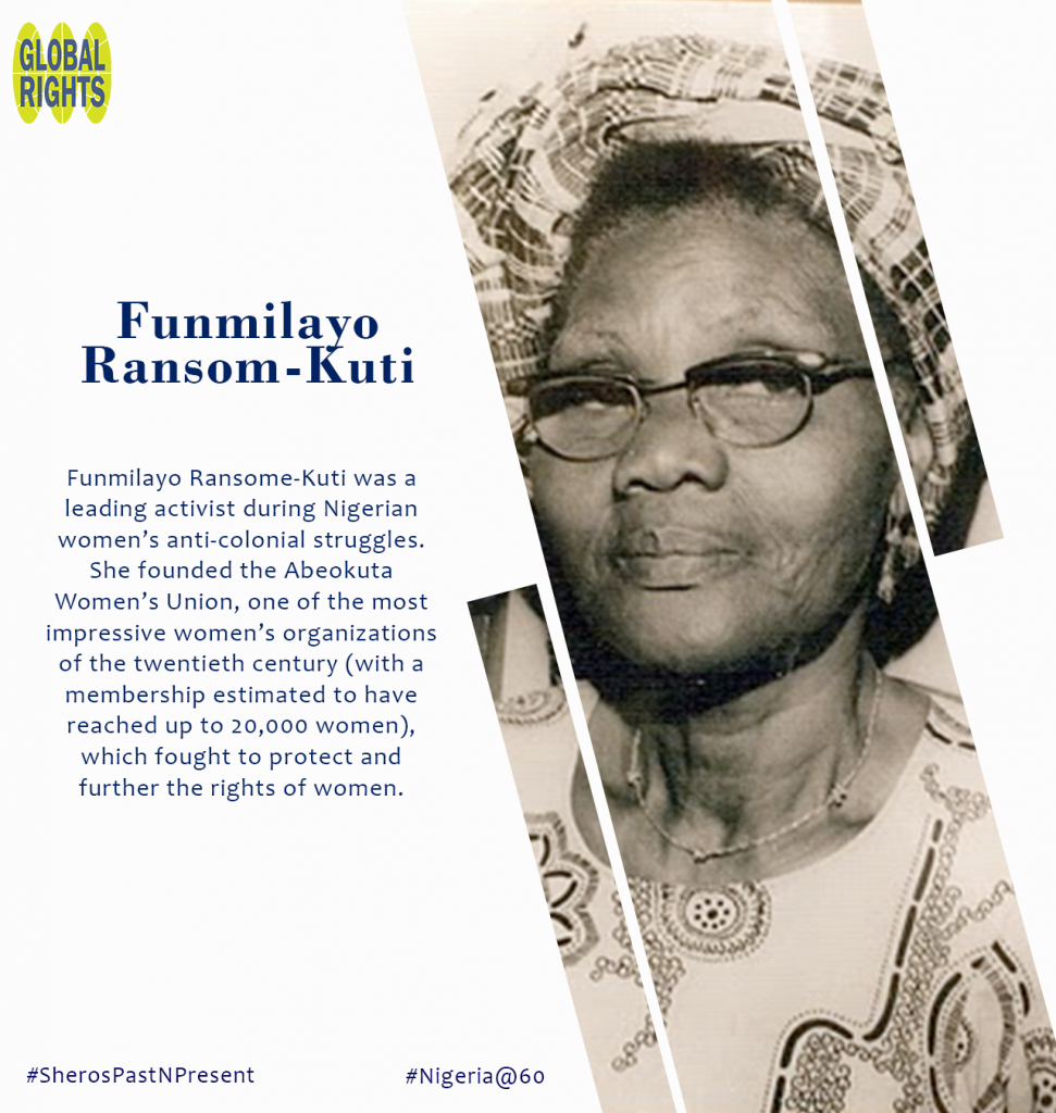 Meet our Sheroes - Funmilayo Ransome-Kuti