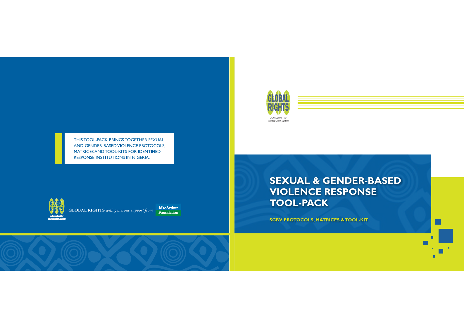 Sexual & Gender Based Violence Response Tool-Pack