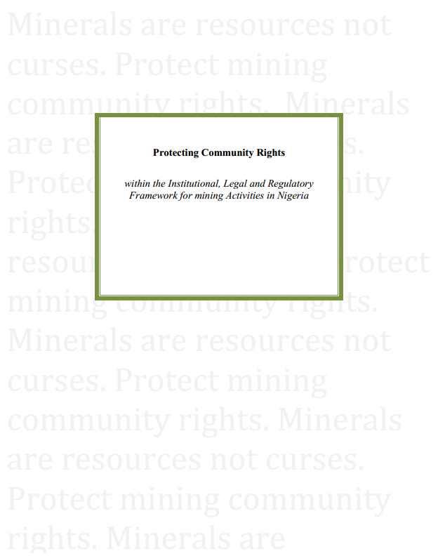 Protecting Community Rights